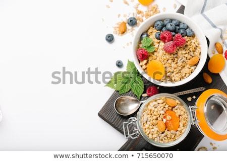 アーモンド ナッツ ボウル 白 健康的な食事 自然 ストックフォト © yelenayemchuk