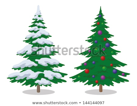 два Рождества деревья снега зимний сезон дерево Сток-фото © orensila