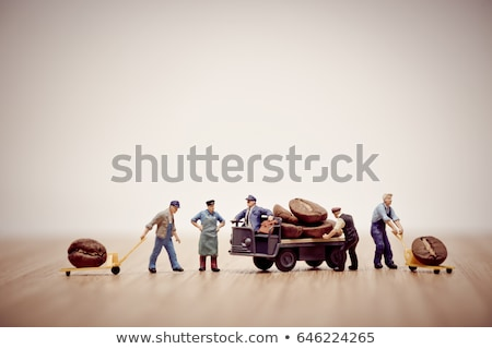 Miniature workers loading coffee beans on truck Stock photo © Kirill_M