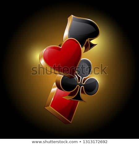 Casino banners speelkaarten symbolen hart Rood Stockfoto © SArts