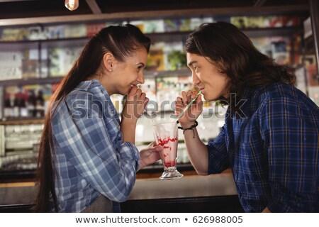 Casal contrariar restaurante negócio homem juventude Foto stock © wavebreak_media