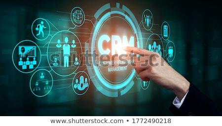 Crm logiciels portable écran client relation Photo stock © tashatuvango