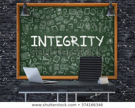 Chalkboard on the Office Wall with Integrity Concept. Stock photo © tashatuvango