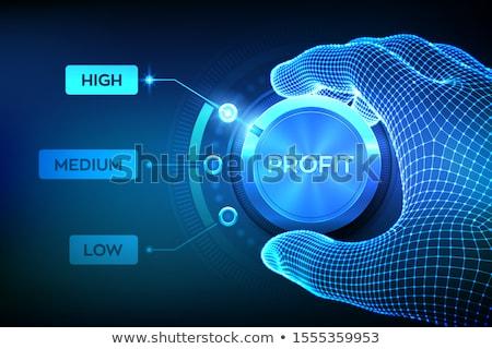 Investering 3d illustration grafische equalizer business Rood Stockfoto © 72soul