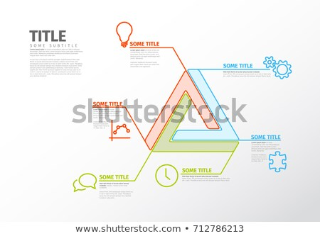 vector infographic report template with impossible shape stock photo © orson