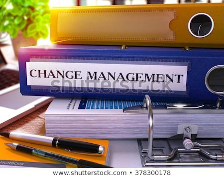 Azul escritório dobrador mudar gestão Foto stock © tashatuvango