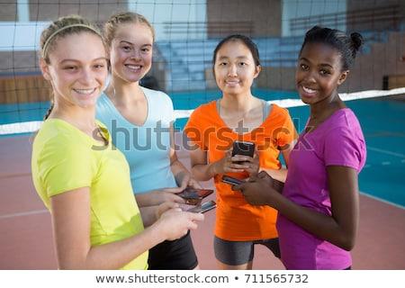 Siatkówka gracze telefony stałego sąd kobieta Zdjęcia stock © wavebreak_media