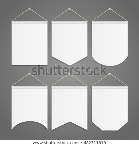 Pennant Template Hanging on Wall, vector stock photo © Andrei_