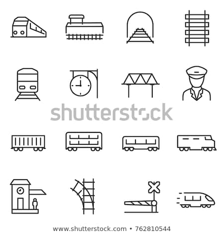 Locomotiva linha ícone vetor isolado branco Foto stock © RAStudio
