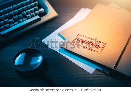 Confidencial máquina de escribir tiro comunicación documento Foto stock © devon