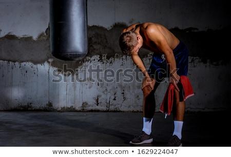 Jonge mannelijke knap kaukasisch Rood Stockfoto © handmademedia