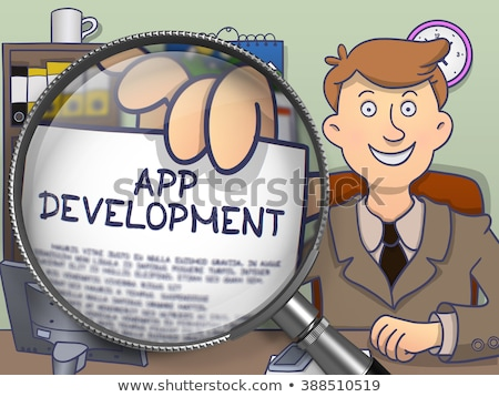 Technologie lentille doodle design souriant affaires Photo stock © tashatuvango