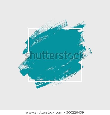 Foto stock: Blue Watercolor Paint Stroke Vector Background