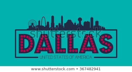 Flat line Dallas banner Stock photo © Yuriy