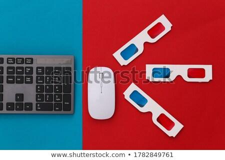 film · kulcs · 3D · kék · belépés · numerikus · billentyűzet - stock fotó © tashatuvango