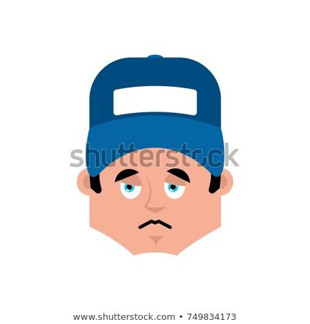 Idraulico triste emozione avatar faccia vettore Foto d'archivio © popaukropa