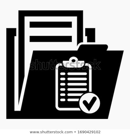 folder in catalog marked as contracts stock photo © tashatuvango