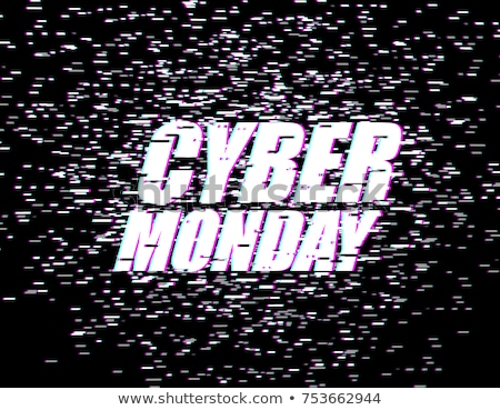 cyber monday glitch effect emblem website display online stock photo © maryvalery