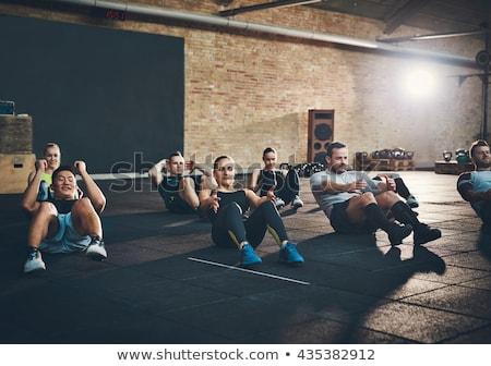 группа подготовки спортзал инструктор женщину здоровья Сток-фото © IS2