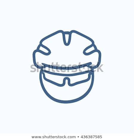 bicicleta · motocicleta · branco · esportes · preto · sombra - foto stock © rastudio