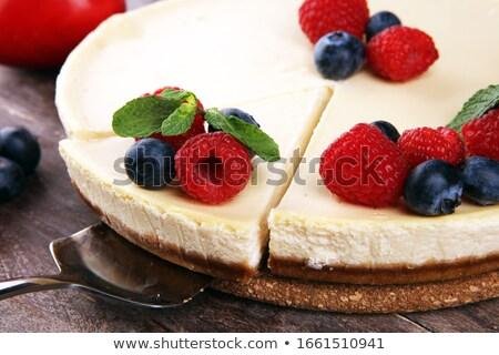 チーズケーキ · チョコレート · ソース · ケーキ · プレート · デザート - ストックフォト © mpessaris