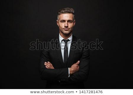 portre · adam · siyah · stüdyo · genç · tişört - stok fotoğraf © filipw