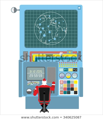 Production systems in new year. Control Panel with buttons and s Stock photo © popaukropa