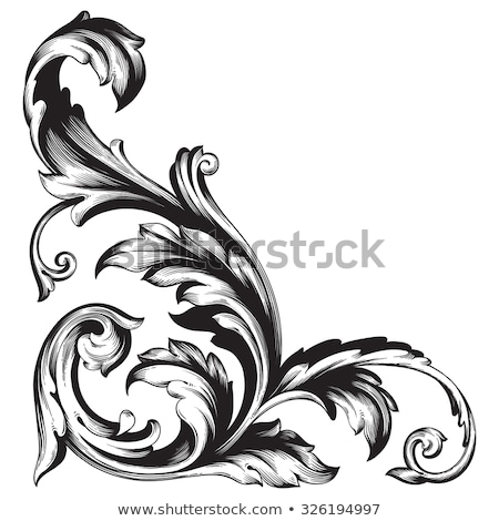 Scroll Floral Filigree Heraldry Design Stock photo © Krisdog