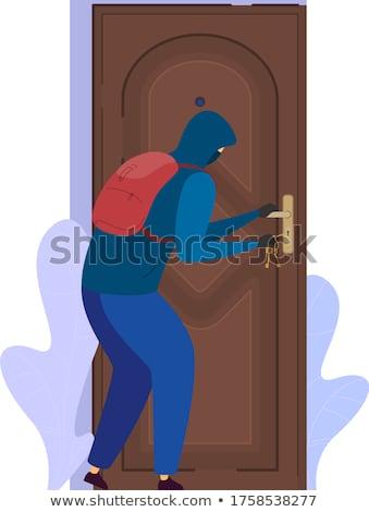 persona · apertura · puerta · bloqueo · primer · plano · personas - foto stock © andreypopov