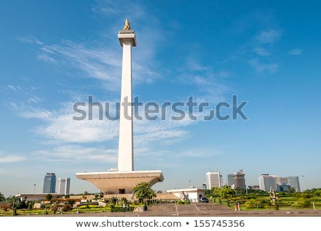 national monument of jakarta in java stock photo © prill