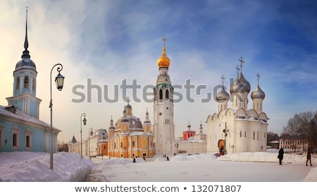 sofia russian church winter stock photo © vilevi