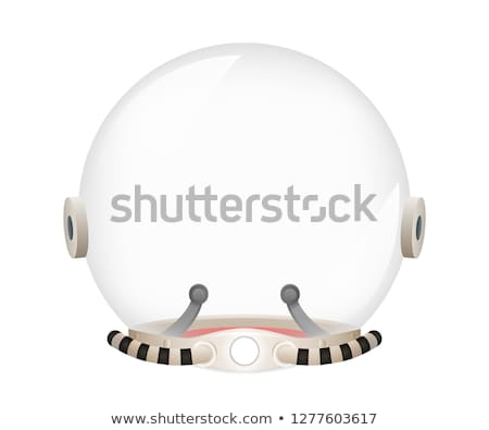 Helmet of Spacesuit Poster Vector Illustration Stock photo © robuart