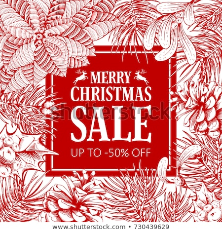 Holiday sale stickers in trendy style Stock photo © studioworkstock