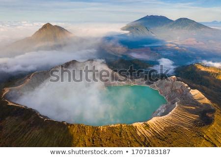 Cráter java Indonesia famoso atracción turística lago Foto stock © joyr