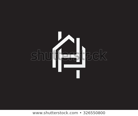 house logo with letter A sign. logo template stock photo © taufik_al_amin