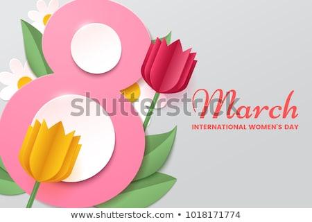 feliz · día · de · la · mujer · nino · hija · mamá · abuelita - foto stock © articular