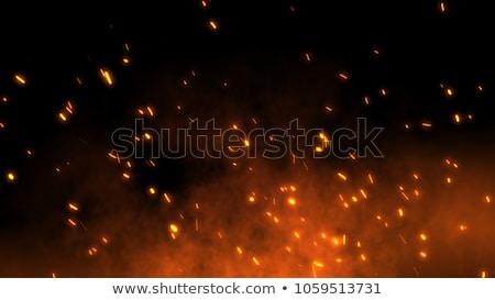 Ceniza fuego borroso oscuro noche hoguera Foto stock © romvo