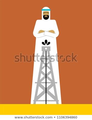 Arabski człowiek oleju pompować facet działalności Zdjęcia stock © popaukropa