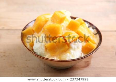 切り クリーム ボウル 食品 フルーツ オレンジ ストックフォト © wavebreak_media