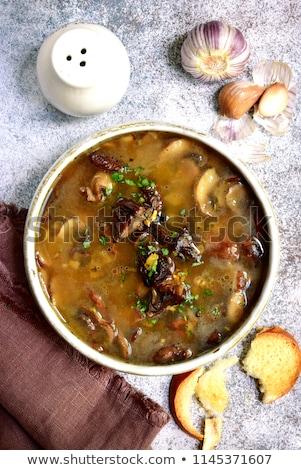 Lepel gedroogd champignons gesneden bruin Stockfoto © Digifoodstock