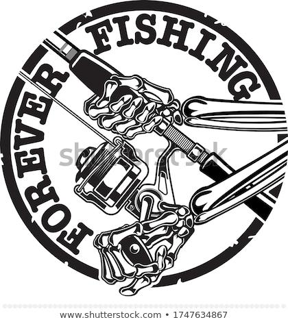 Bang cartoon zwaardvis illustratie naar vis Stockfoto © cthoman