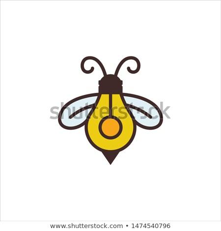 Foto stock: Abelha · mascote · ilustração · bonitinho · pequeno
