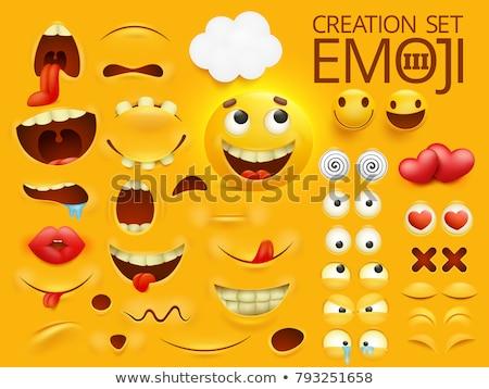 Cartoon ogen sjabloon ingesteld transparant Stockfoto © romvo