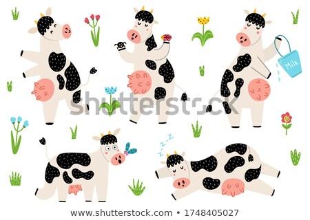 Cartoon Bull Silhouette Afraid Stock photo © cthoman