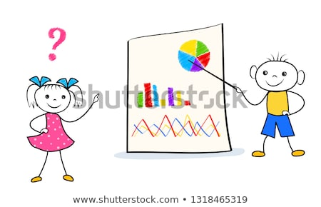 The man is standing in the office near the board with stickers and is leading a besside. Stock photo © Traimak