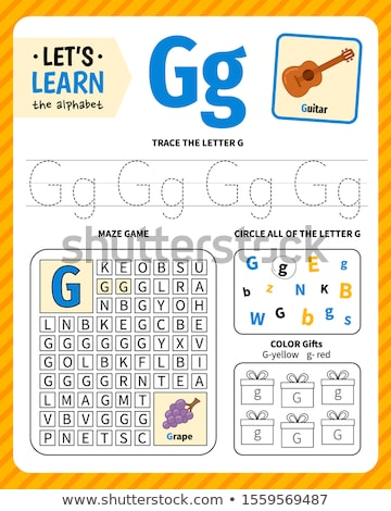 how to write letter G workbook for children Stock photo © izakowski