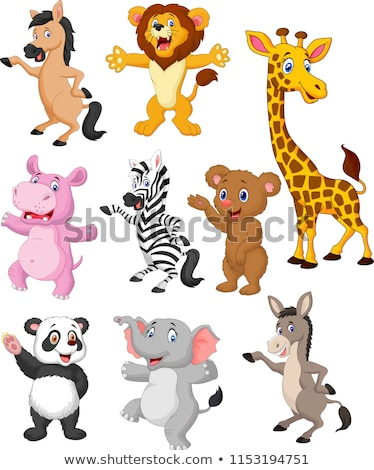 Cartoon Giraffe Waving Stock photo © cthoman