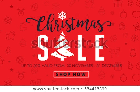 Christmas sale lettering and xmas calligraphy set. Typography elements collection. Holiday Online sh Stock photo © JeksonGraphics