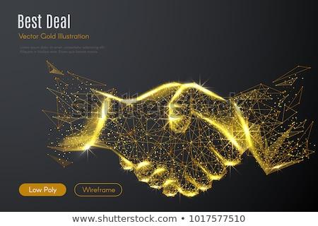 homme · d'affaires · bureau · réseau · effet · travail · d'équipe · association - photo stock © alphaspirit