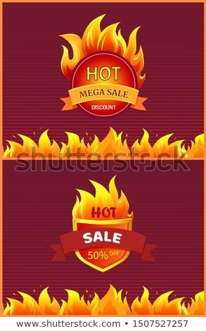 Calor signo carteles aislado Foto stock © robuart